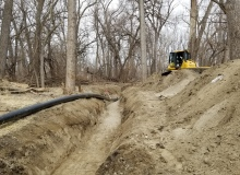 HDPE Pipe Trench